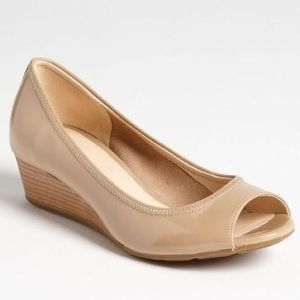 Cole Haan Air Tali Wedge Nude Peep toe Wedge NEW